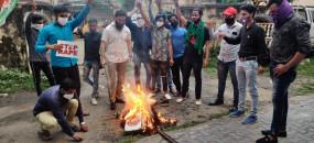 हाथरस कांड की आग दिल्ली से महाराष्ट्र तक पहुंची, नागपुर में योगी का पुतला जलाया- मुंबई में भी हुआ प्रदर्शन