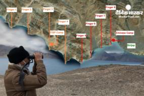 लद्दाख में तनाव: पैंगॉन्ग झील में 4 जगह पर राइफल रेंज में भारत और चीन के सैनिक