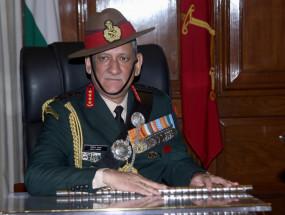 भारत को दो मोर्चो पर कार्रवाई का खतरा : जनरल बिपिन रावत