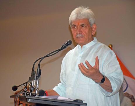 जम्मू-कश्मीर : उपराज्यपाल सिन्हा ने 1,350 करोड़ रुपये के पैकेज का किया एलान