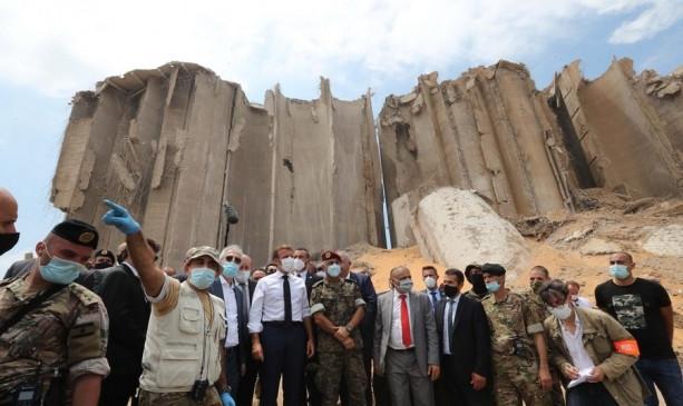 बेरुत बंदरगाह पर विस्फोट के बाद मैक्रों दूसरी बार लेबनान दौरे पर