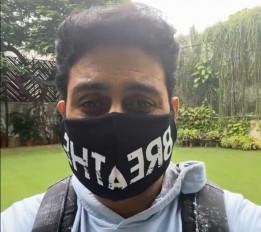 कृपया अपना मास्क पहने रखें : अभिषेक बच्चन