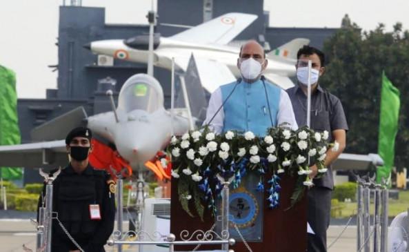 चीन-पाकिस्तान को संदेश: राफेल का भारतीय वायु सेना में शामिल होना दुश्मनों को कड़ा जवाब- राजनाथ सिंह