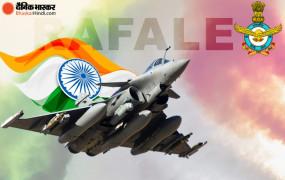 अंबाला: भारतीय वायुसेना में शामिल हुआ राफेल, राजनाथ सिंह और फ्रांसीसी रक्षा मंत्री ने की शिरकत