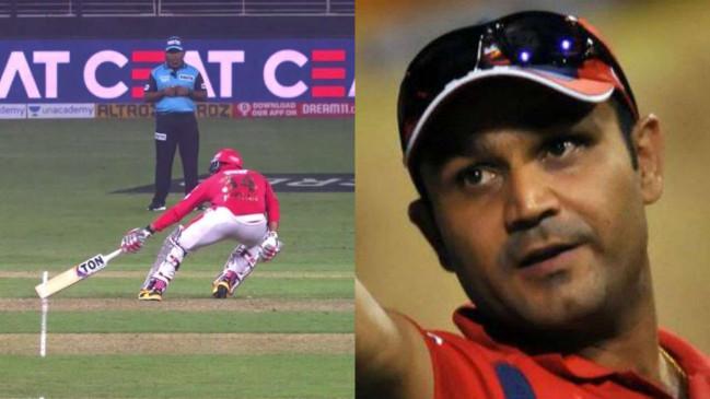 KXIP VS DC: IPL में अंपायर के गलत फैसले पर सहवाग नाराज, बोले- जिस अंपायर ने शॉर्ट रन दिया उन्हें मैन ऑफ द मैच चुना जाना चाहिए था