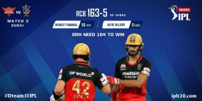 SRH Vs RCB: हैदराबाद का लगा पहला झटका, डेविड वॉर्नर आउट, बेंगलुरु ने दिया 164 रन का टारगेट