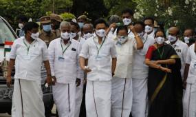 तमिलनाडु विधानसभा : डीएमके विधायकों ने नीट विरोधी नारे वाले मास्क पहने