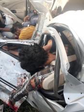 तेलंगाना : तेज रफ्तार कार पाइप लाइन से टकराई, 5 की मौत