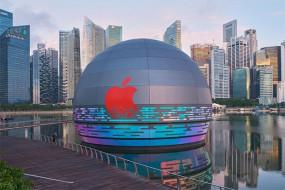 Tech: सिंगापुर में खुला दुनिया का पहला फ्लोटिंग एप्पल स्टोर