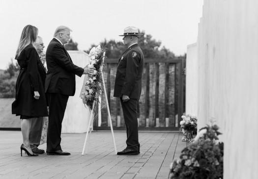 9/11 की बरसी पर ट्रम्प ने एयरफोर्स वन में यात्रा के दौरान रखा मौन