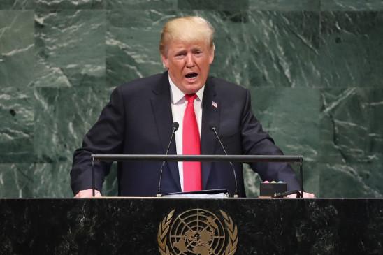 संयुक्त राष्ट्र महासभा: चीन पर फिर बरसे ट्रंप, कोरोना संक्रमण के लिए ठहराया जिम्मेदार