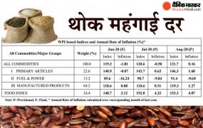 Wholesale inflation: थोक महंगाई दर बढ़कर 0.16 फीसदी पर पहुंची, आलू के दाम 82.93 प्रतिशत बढ़े