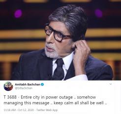 मुंबई में बत्ती गुल : बॉलीवुड हस्तियों ने दी प्रतिक्रिया