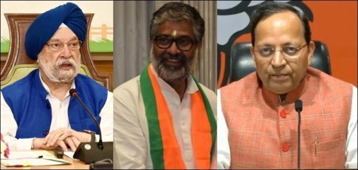 राज्यसभा चुनाव में हरदीप पुरी, अरुण सिंह, नीरज शेखर को उतार सकती है भाजपा