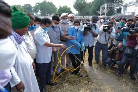 दिल्ली : 800 हेक्टेयर पर नहीं जलेगी पराली, सीएम ने खेतों में कमान संभाली