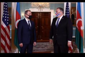 आर्मेनिया, अजरबैजान के विदेश मंत्रियों ने वाशिंगटन में पोम्पियो से मुलाकात की