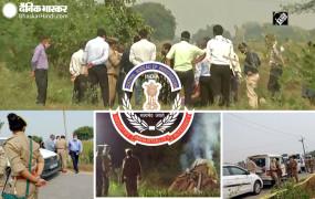 Hathras Case : पीड़िता के पिता और दोनों भाईयों से CBI ने 6 घंटे पूछताछ की, गांव में लगाया अस्थाई टेंट