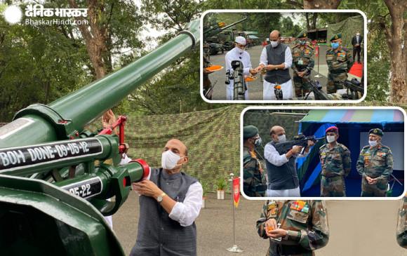 Shastra Puja: दार्जीलिंग में सेना के मुख्यालय में रक्षा मंत्री ने की शस्त्र पूजा, कहा- भारत एक इंच जमीन भी किसी दूसरे के हाथों में जाने नहीं देगा