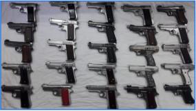 अंतर्राज्यीय हथियार सप्लायर गिरफ्तार, 25 पिस्तौलें जब्त