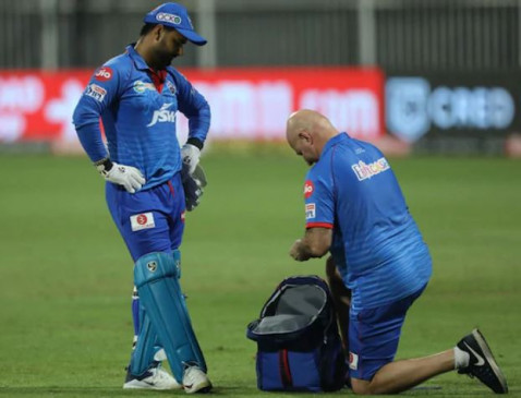 IPL-13: दिल्ली कैपिटल्स को लगा बड़ा झटका, हैमस्ट्रिंग इंजरी के कारण ऋषभ पंत एक हफ्ते के लिए बाहर