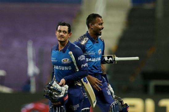 MIvs KKRIPL 2020 Live Score : डि कॉक की तूफानी फिफ्टी, कोलकाता को 8 विकेट से हराकर चैंपियन मुंबई इंडियंस फिर टॉप पर