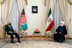 रूहानी मिले अब्दुल्ला से, अफगान शांति के लिए समर्थन का वादा किया