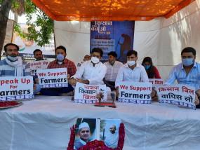गांधी जयंती पर एनएसयूआई का कई मुद्दों पर सत्याग्रह