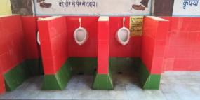 उप्र : शौचालयों को सपा के रंग में रंगने पर भड़के सपाई