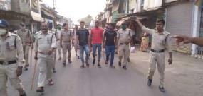 पिस्टल, कारतूस और बम के साथ शातिर बदमाश व साथी गिरफ्तार