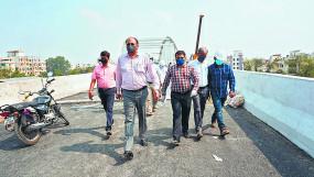 दिवाली के बाद राहगीरों के लिए सुचारु होगा वर्धा रोड डबल डेकर