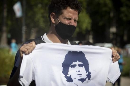 भावुक पलों के बीच अर्जेटीना के फुटबॉल क्लबों ने माराडोना को दी श्रद्धांजलि