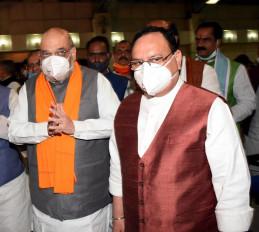 हैदराबाद निगम चुनाव में भाजपा का धुआंधार अभियान, अमित शाह, नड्डा और योगी बनाएंगे माहौल