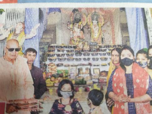 इस्कॉन मंदिर में भगवान को अर्पित किए 108 भोग गोवर्धन पूजा महोत्सव मनाया, भक्तों ने गौपूजा कर लिया गौरक्षा का संकल्प