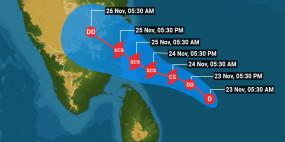 आपदा: चक्रवाती तूफान निवार के 12 घंटों में भीषण रूप लेने की आशंका