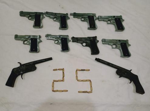 दिल्ली : हथियार तस्करी के आरोप में 2 गिरफ्तार, 10 पिस्तौल जब्त