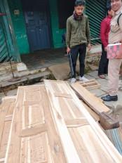 वन विभाग ने ग्रामीण सेजब्त की 50 हजार रू. की अवैध लकड़ी
