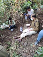 घाटपरासिया के जंगल में मिला नरकंकाल - लापता युवक के रिश्तेदारों ने की शिनाख्त, जताई हत्या की आशंका