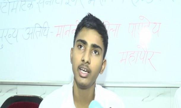 कानपुर के लड़के ने बनाया एयर प्यूरीफायर रोबोट
