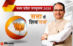 मप्र में फिर शिव'राज' सरकार: शिवराज के 3 मंत्री इमरती, दंडोतिया और कंसाना हारे, कांग्रेस 8 तो भाजपा 19 ने सीटें जीती