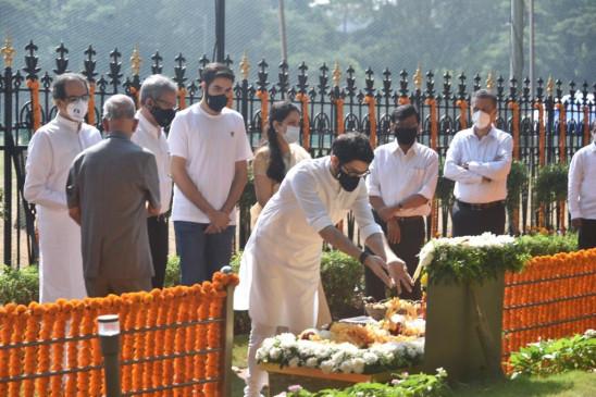 महाराष्ट्र के नेताओं ने पुण्यतिथि पर दी बालासाहेब ठाकरे को श्रद्धांजलि