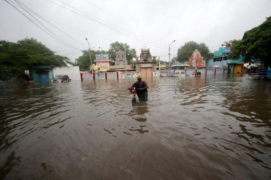 निवार के चलते आंध्र में 164 स्थानों पर हुई 60 मिमी से ज्यादा बारिश