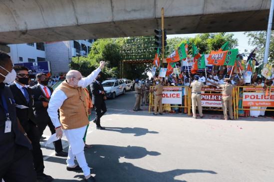 Politics: शाह बोले- तमिलनाडु के लोग परिवारिक राजनीति करने वालों को सबक सिखाएंगे