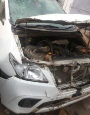 फरार थानेदार की तलाश में बिहार गई सतना पुलिस की गाड़ी दुर्घटना ग्रस्त