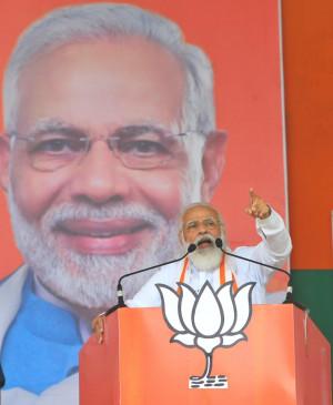 बिहार में जंगलराज लाने वालों को भारत माता की जय बोलने में दिक्क्त : मोदी