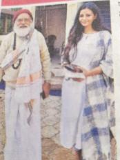 मुंबई में सब मिलता है शुद्धता नहीं! - फिल्म स्टार नवाजुद्दीन सिद्दीकी की बेगम ने जबलपुर के स्वामीजी से लिया आशीर्वाद
