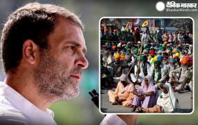 मोदी पर कटाक्ष: कांग्रेस नेता राहुल गांधी बोले- अन्नदाता सड़कों-मैदानों में धरना दे रहे हैं, और 'झूठ' टीवी पर भाषण!