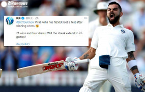 विराट के Luck से भारत जीतेगा पहला टेस्ट! ICC ने ट्वीट किया कप्तान के साथ जुड़ा ये इत्तेफाक