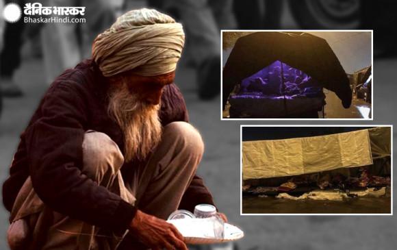 kisan andolan: कड़कड़ाती ठंड व बारिश के बीच भूख हड़ताल पर किसान, देखें दिल दहला देने वाली तस्वीरें