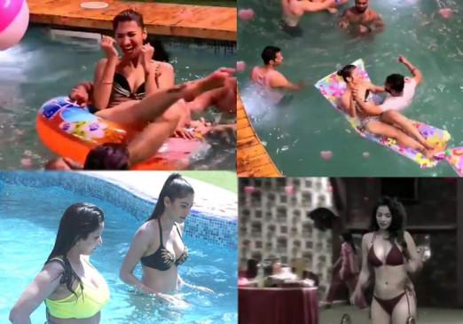 Bigg Boss: हाई ड्रामा से भरपूर शो में शहनाज गिल से लेकर सनी लियोनी ने लिया स्विमिंग पूल का आनंद