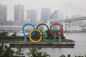 टोक्यो बे पर लौटे जाएंट ओलंपिक रिंग्स